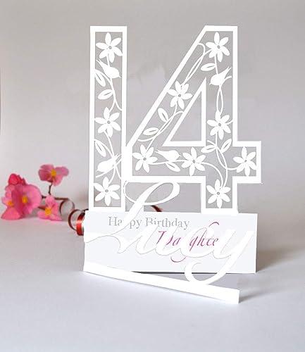 Granddaughter Friend Niece Personalised Handmade Birthday Card Daughter