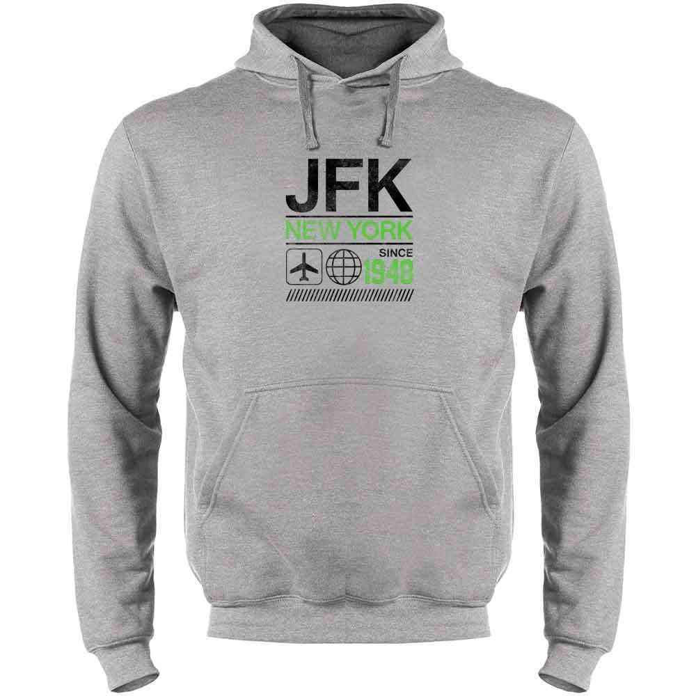JFK Airport Code New York Since 1948 Travel Mens Fleece Hoodie Sweatshirt