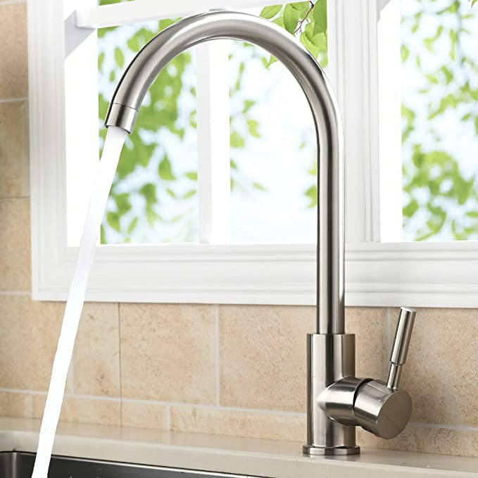VAPSINT Single Handle Hot & Cold Mixer Kitchen Sink Faucet Review