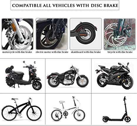 Bremsscheibenschloss Diebstahlsicherung Für Motorrad Bremsscheibe Verriegelung Mit 2 Schlüsseln Und Transporttasche Sicherheit Für Fahrrad Scooter Schwarz Auto