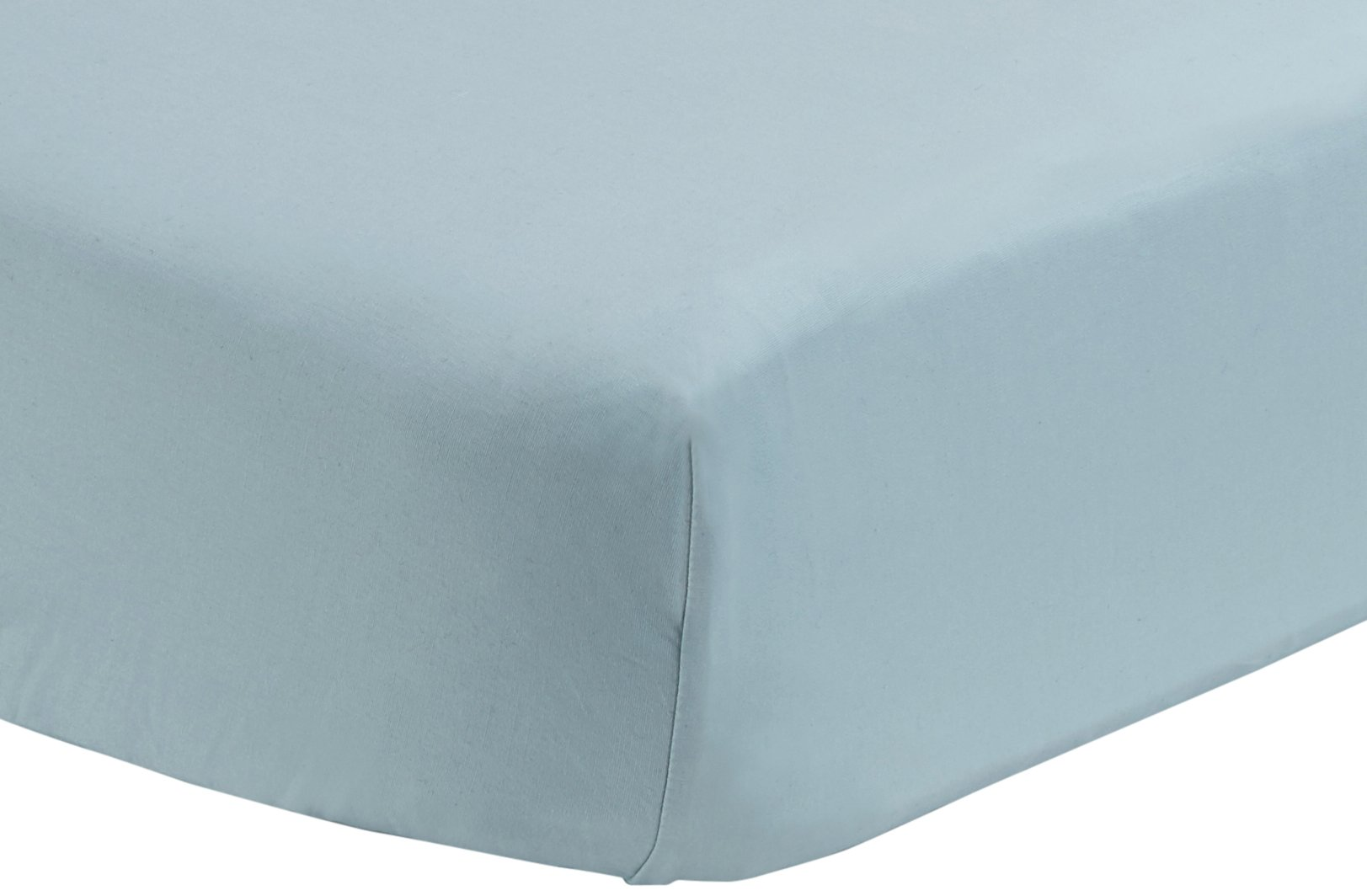 Pinzon 300 Thread Count Percale Fitted Crib Sheet, Spa Blue