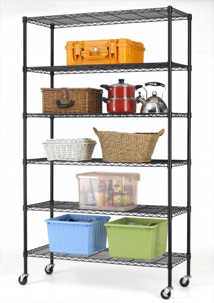 BestOffice Commercial 82''x48''x18'' 6 Tier Layer Shelf Adjustable Wire Metal Shelving Rack 76 by BestOffice (Image #1)