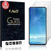 J&D Compatibel voor Asus Zenfone 7/Zenfone 7 Pro Glass Screen Protector (4-Pack), niet volledige dekking, gehard glas HD…