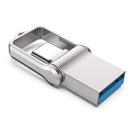 USB Stick 64GB, KEXIN OTG Speicherstick 2-in-1 Flash Drive USB3.0 Memory Stick USB Type C Flash Laufwerk mit Schlüsselanhänge