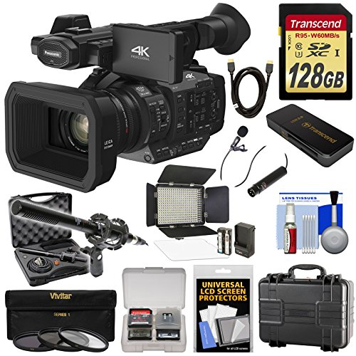 panasonic-hc-x1-4k-ultra-hd-video-camera-camcorder-with-128gb-card-led-light-2-microphones-hard-case