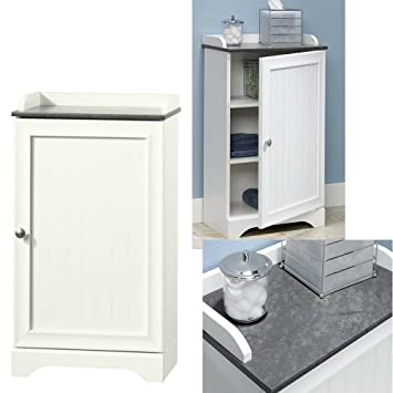 white wooden bathroom furniture. Amazon.com: Vertical Bathroom Cabinet With Counter Top Display White Wooden  Small Storage Unit Adjustable Shelves Floor Standing Door White Wooden Bathroom Furniture O