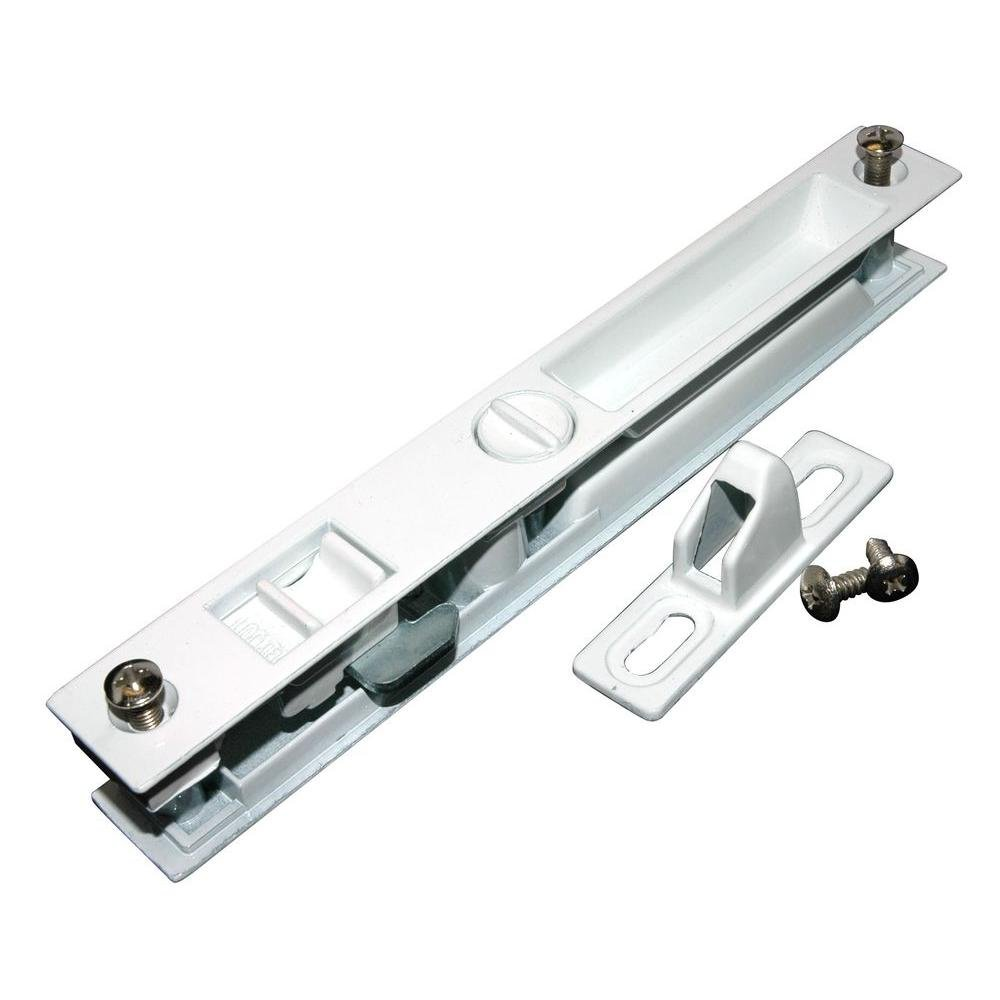 Barton Kramer Door Lock Set White Glass