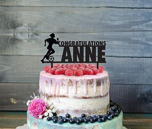 Decoración para tarta de cumpleaños de fútbol, silueta de ...
