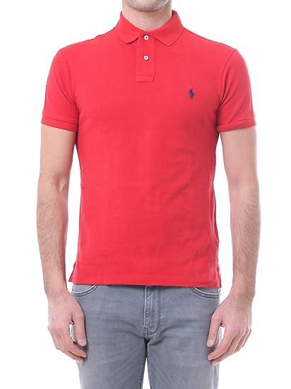 Polo Ralph Lauren Polo Otoño/Invierno 16 Slim-fit Rojo S: Amazon ...