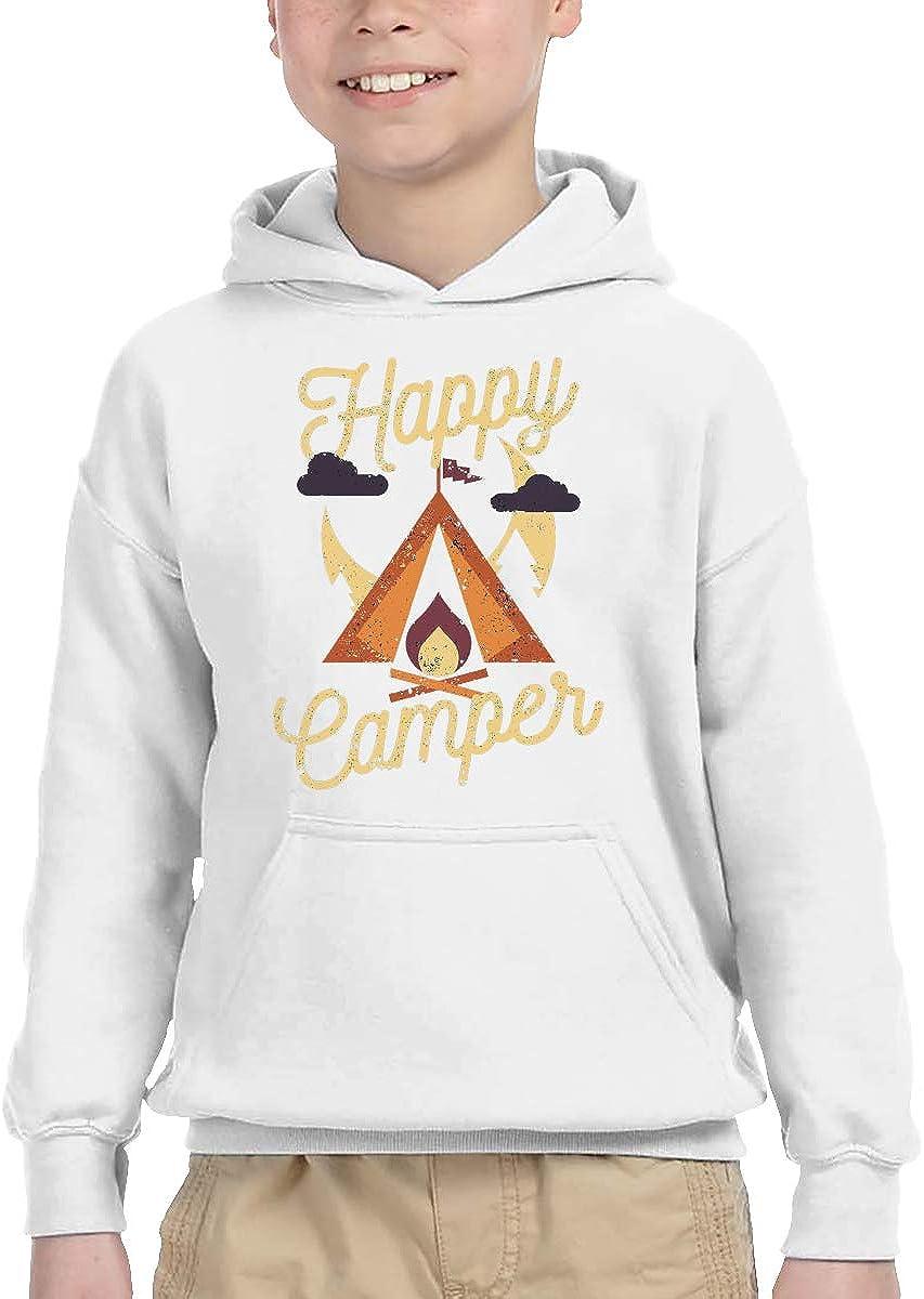 ShenigonHappy Camper Pullover Hoodie Sweatshirt Teens Hooded for Boys Girls