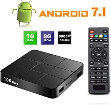 Android 7.1 Smart TV Box - SEEKOOL T96 Android TV Box con 1GB RAM 8GB ROM, 4K
