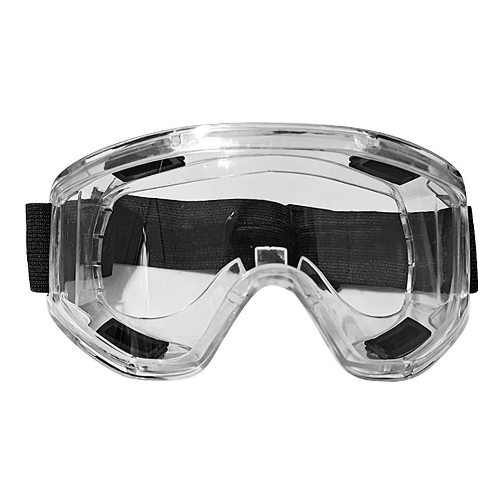 Gafas de protección de seguridad, Padgene Gafas antivaho, antipolvo, antisalpicaduras, con banda ajustable para la cabeza (transparente)