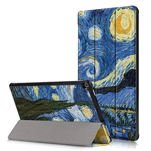 Amazon HD 10 Fire Tablet Case,Fire HD 10 Kindle Case 2017,Fire HD10 2017 Tablet Case,fold Protective Skin Folio Case Stand Cover for Fire HD 10 2017