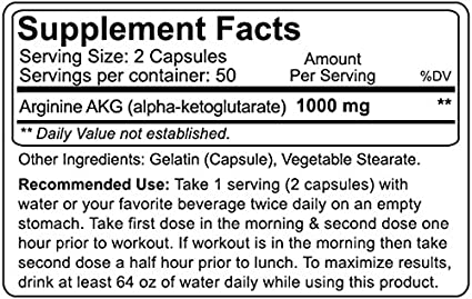 Amazon.com: NutraKey Arginine 500mg, 100 Count: Health & Personal Care