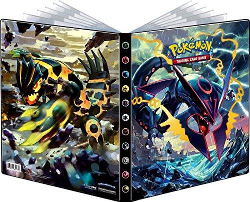 Ultra-Pro Pokemon Card Portfolio Album featuring Rayquaza & Groudon Ancient Origins (9-Pocket Album/Portfolio Holds 90-180 Cards) by Pokemon (Image #1)