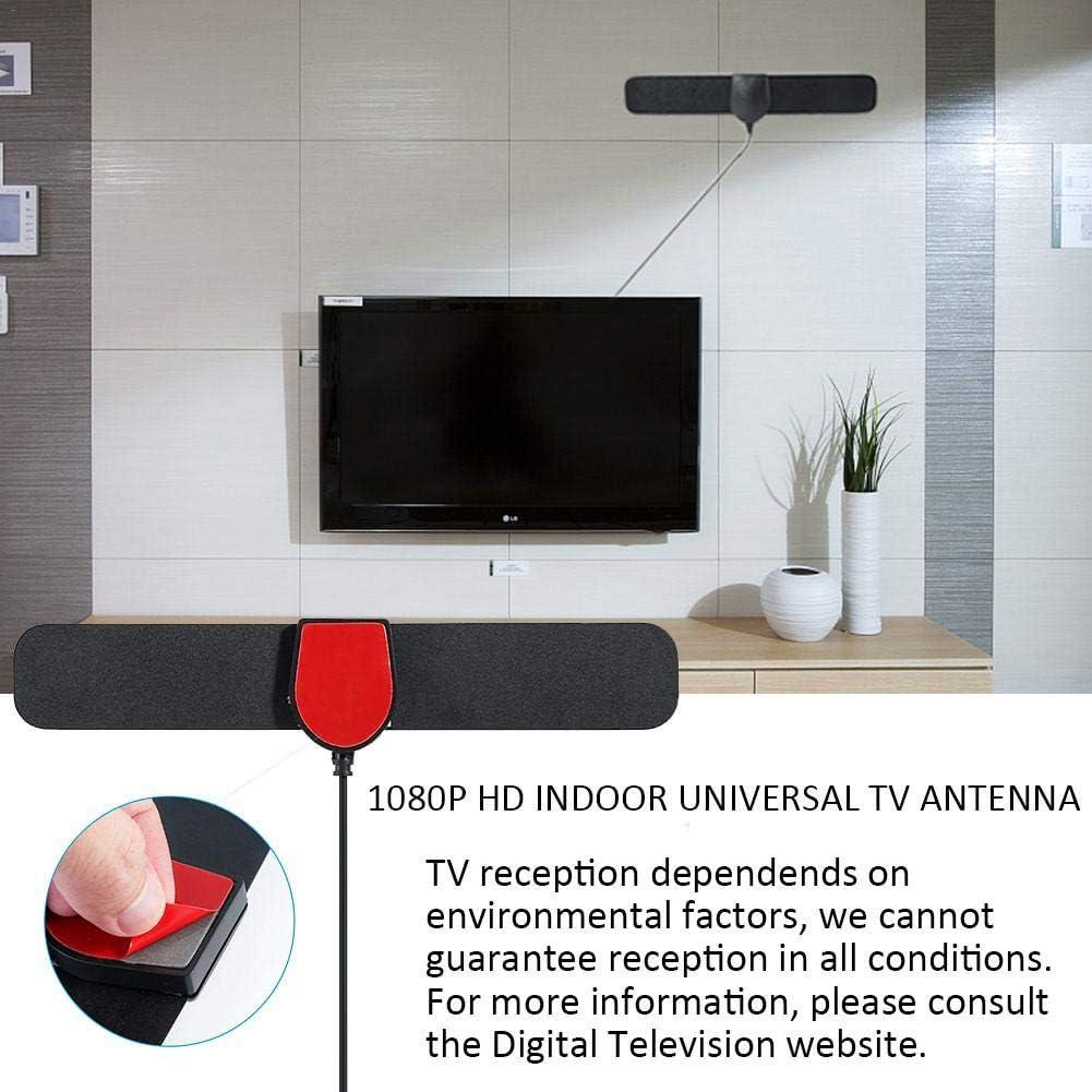 LIJUMN Potente Antena De TV para Interiores, Máx. 150 Millas, Antena De TDT con Amplificador De Señal De Refuerzo, Cable Coaxial De 3.7 Metros, Compatible con Smart TV 4K 1080P HD/HD/VHF/UHF/FM: Amazon.es: