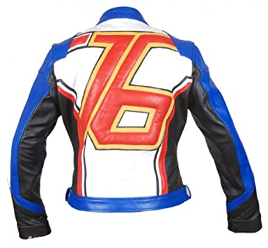 51838462e Overwatch Game Soldier 76 Biker Synthetic Leather Jacket at Amazon ...