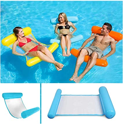 Vixaax Compact Beach Floating Hammock,Fold Swimming Inflatable Floating Water Hammock Pool Lounge Bed Chair Summer for Adult and Kids