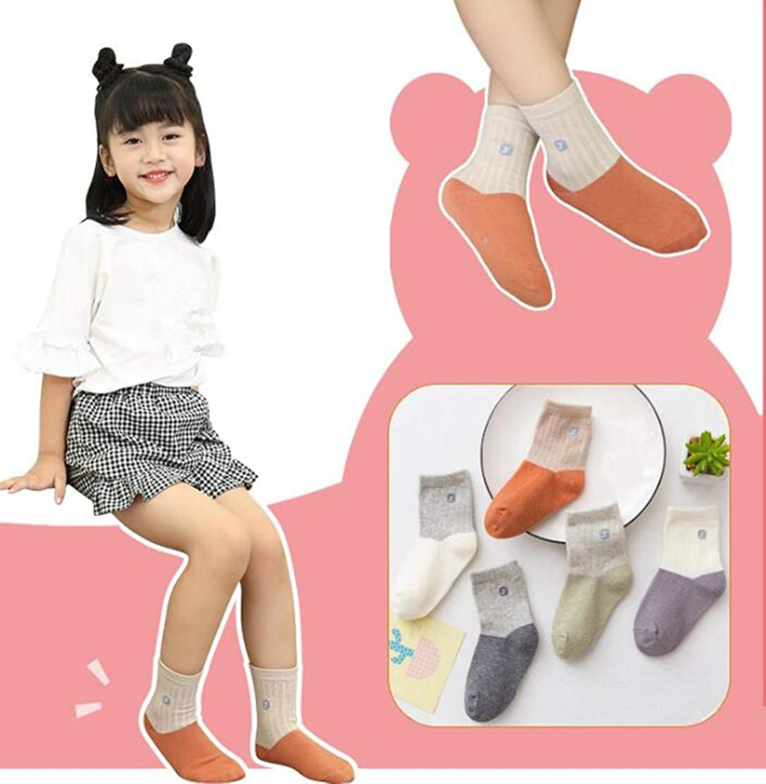 Little//Big Girls Cotton Socks 1-12 Years Toddler Comfortable Crew Socks