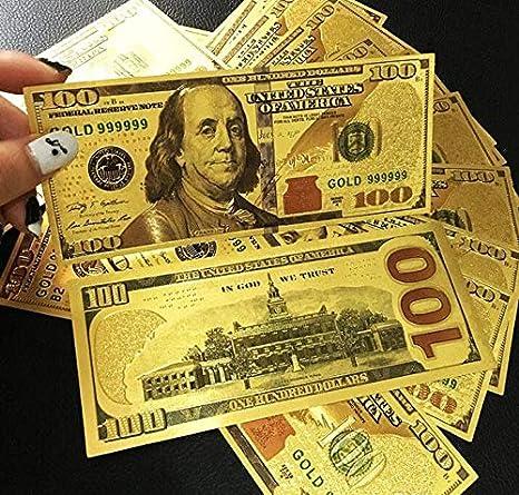 Amazon.com: Party Favors - Props Money 24k Gold Foil Dollar ...