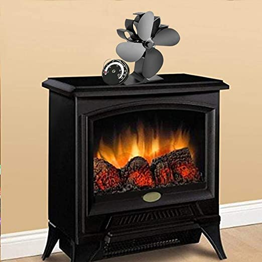 Mondayup Blade ventilador de estufa alimentado por calor para leña ...