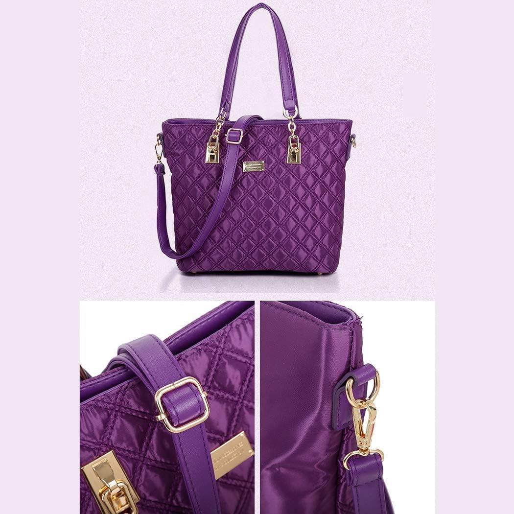 Lfny-bagSac à Main pour Les Femmes de la Mode 6 pièces en Nylon Messenger Sac Portefeuille Sac à Main épaule Sac mère Black