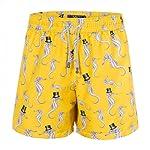 Shorts Mic Fun Cavalheiro Marinho Amarelo