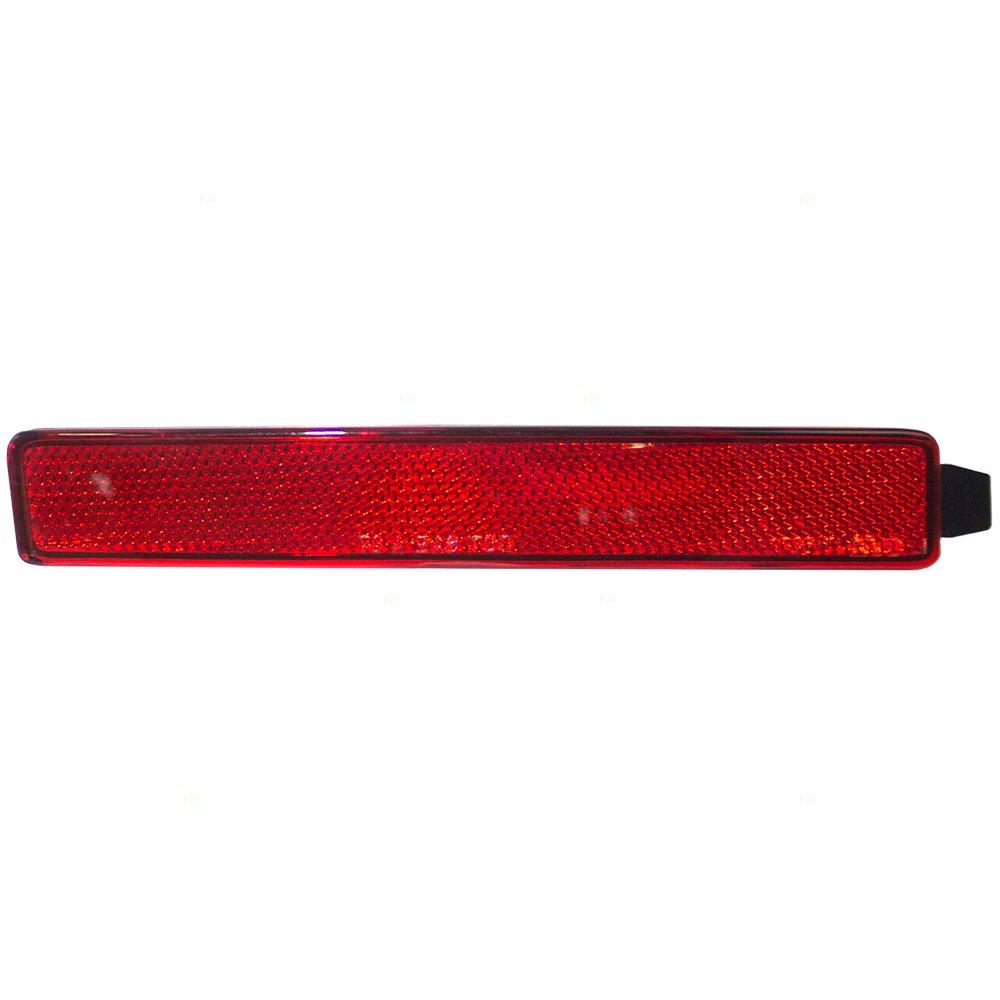 Passengers Rear Bumper Reflector Light Lamp Lens Replacement for Acadia Outlook SRX Traverse 25881882 GM2831100 AutoAndArt
