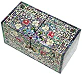 Jmcore Mother of Pearl Arabesque Design Jewelry Box Organizer Nacre Jewellry Case