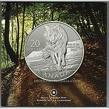 99.99% wolf fine silver coin