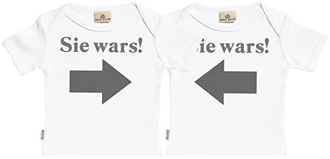 Spoilt Rotten SR Sie Wars Er Wars Baby Zwillinge Body /& Baby Zwillinge Hosen Baby Zwillinge Outfit Baby Zwillinge Set Baby Strampler /& Schwarz Baby Jerseyhose