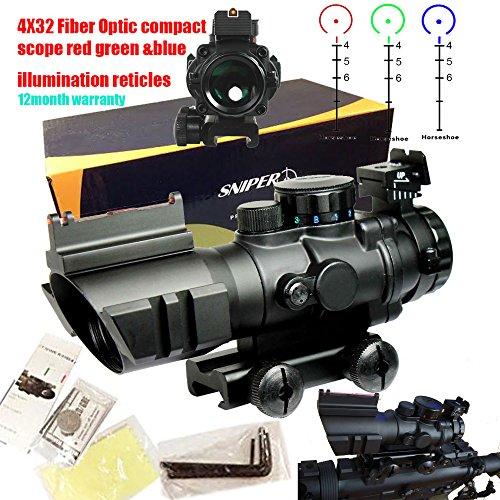 Sniper PRISM 4X32MM Scope W//Rapid RANGING Reticle