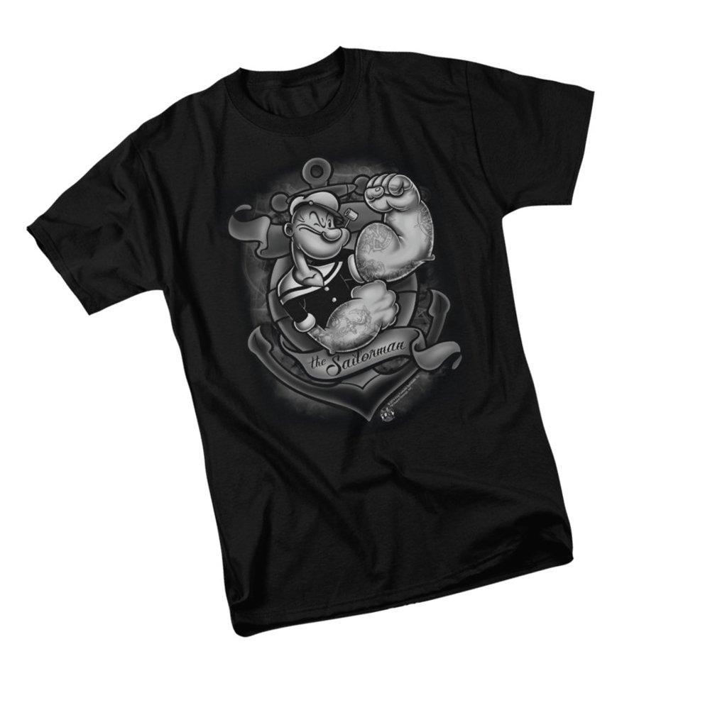 Anchors Away Popeye Adult T Shirt