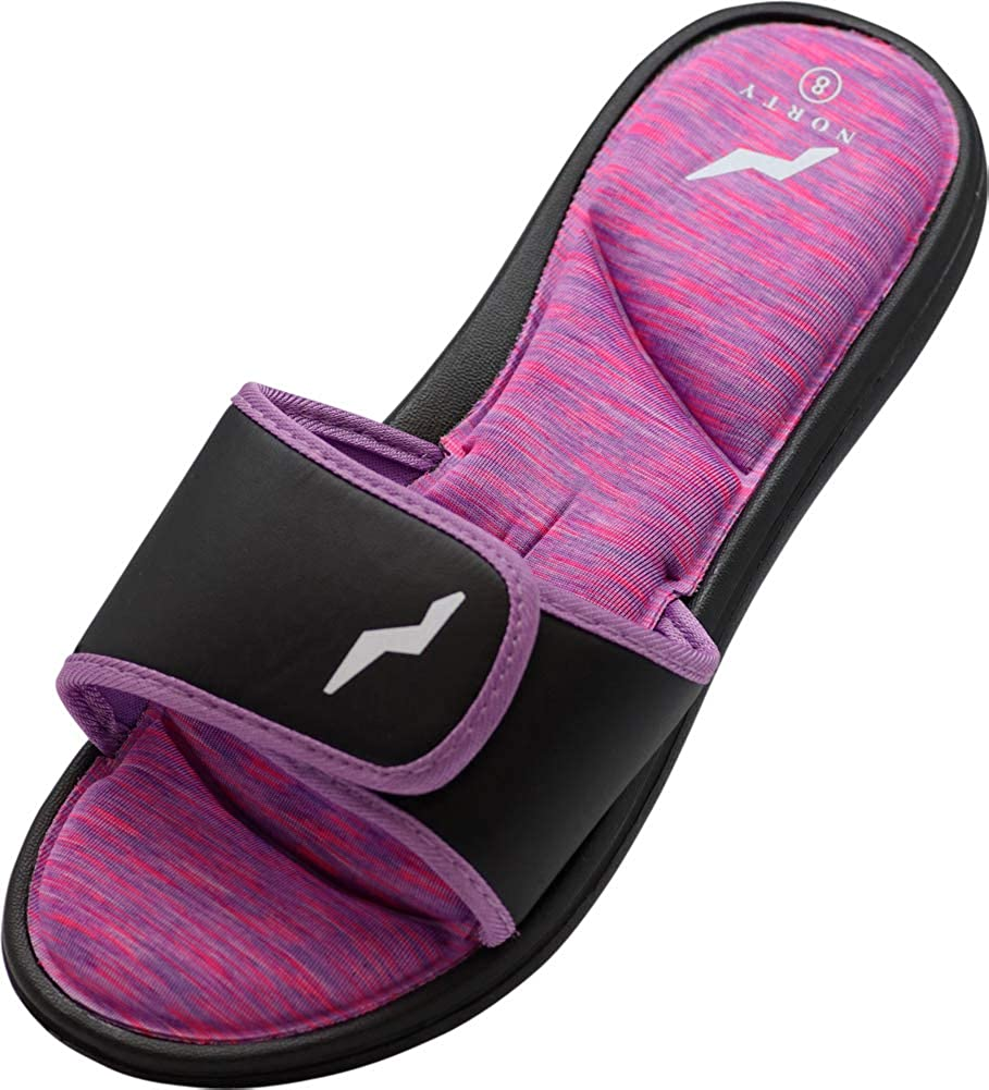 Shower Womens Memory Foam Footbed Sandals NORTY Casual for Beach Pool