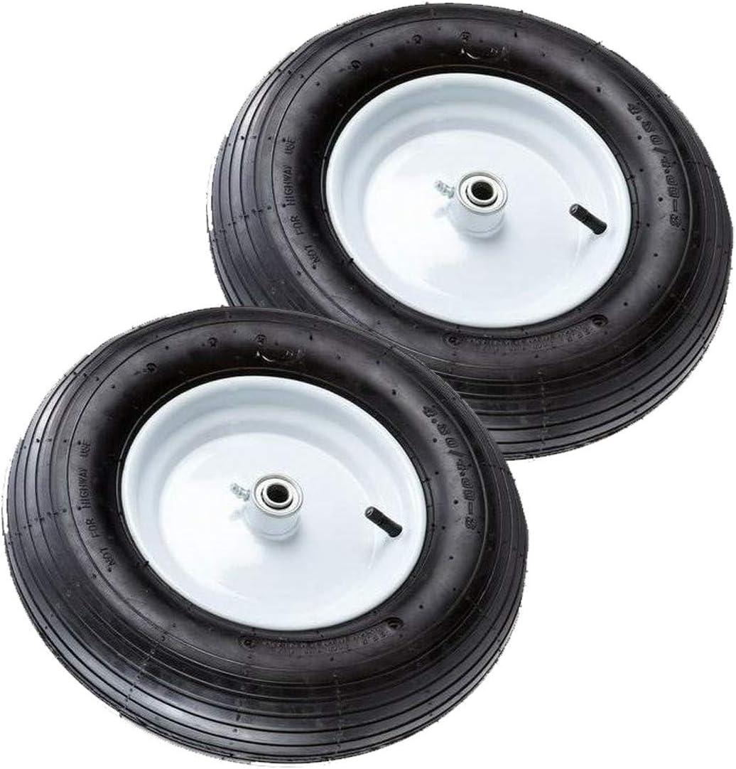 2-PACK Pneumatic Wheelbarrow Tire 16 in Replacement Wheel Yard Utility Cart