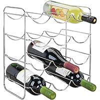 mDesign Vinoteca o botellero metálico para hasta 12