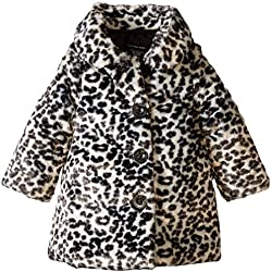 Calvin Klein Baby Girls' Animal Print Faux Fur Jacket, Multi, 24 Months