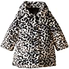 Calvin Klein Baby Girls' Animal Print Faux Fur Jacket, Multi, 12 Months
