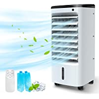BREEZEWELL 3-IN-1 Portable Air Conditioner, Evaporative Air Cooler/Humidifier/Cooling w/ Ice Box, 12H Timer&Remote…
