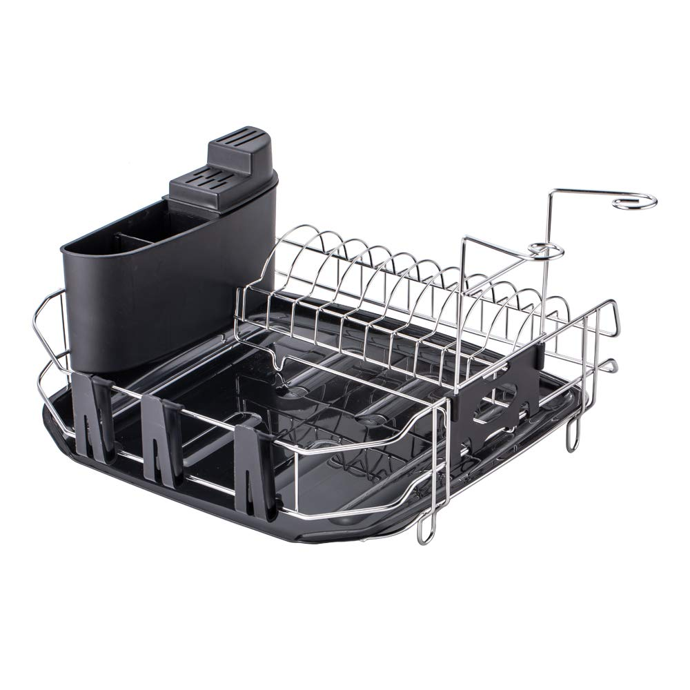 VESLA HOME Deluxe Chrome-plated Stainless Steel Metal Small Dish Drainers Stylish Sturdy Wire Medium Dish Drainer Drying Rack Foshan Yajiasi Kitchen Cabinet Co Ltd