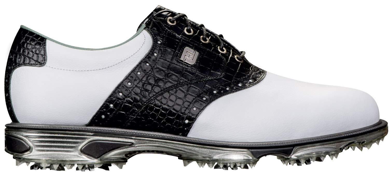 FootJoy Men's DryJoys Tour Golf Shoes White 11 W Black Croc Print, US by FootJoy