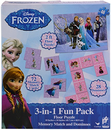 Disney Frozen 3 In 1 Activity Game Box Puzzle Floor