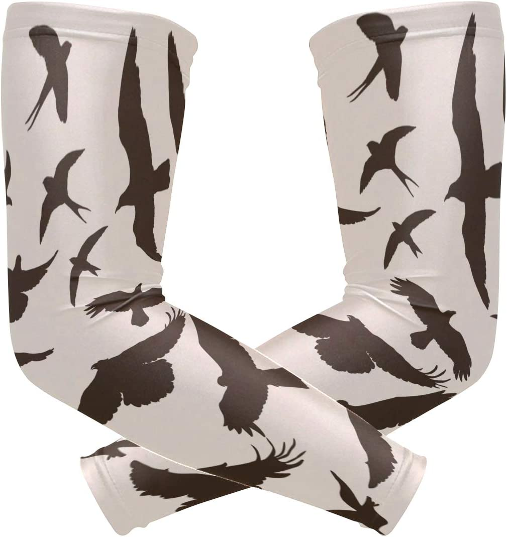 WJJSXKA Sports Athletic Arm Sleeve Vulture Flying Bird Animal Nature Print Compression Sleeves Arm Warmer Moisture Wicking Uv Protection for Youth Adult Outdoor Sunblock Protective Gloves Sleeves