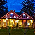 Christmas LED Projector Light Outdoor Waterproof Decoration Landscape Spotlight for Party Helloween Holiday 16 Patterns