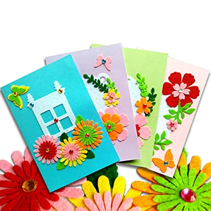 Amazon Com Card Making Kits Diy Handmade Greeting Card Kits For