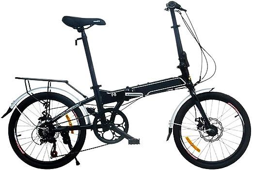 S.N S Bicicleta de montaña Plegable Frenos de Disco Delanteros y ...