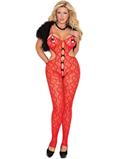 ded818b136c41 Amazon.com  Elegant Moment EM-7205 Lace teddiette  Clothing