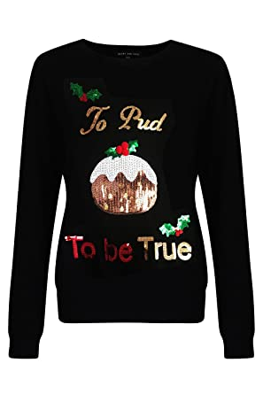 fc7f4f6f8f5e2 Heart & Soul Ladies Christmas Xmas Jumper Collection Crew Neck Xmas Novelty  Top: Amazon.co.uk: Clothing