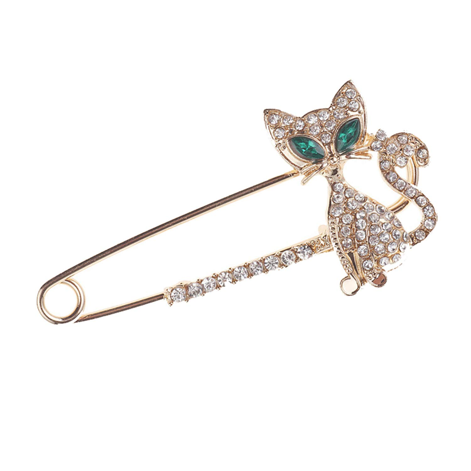 Pins Rose Pin Brooch Rhinestone Women Men Brooches for Suit Scarves Corsage Sweater Collar