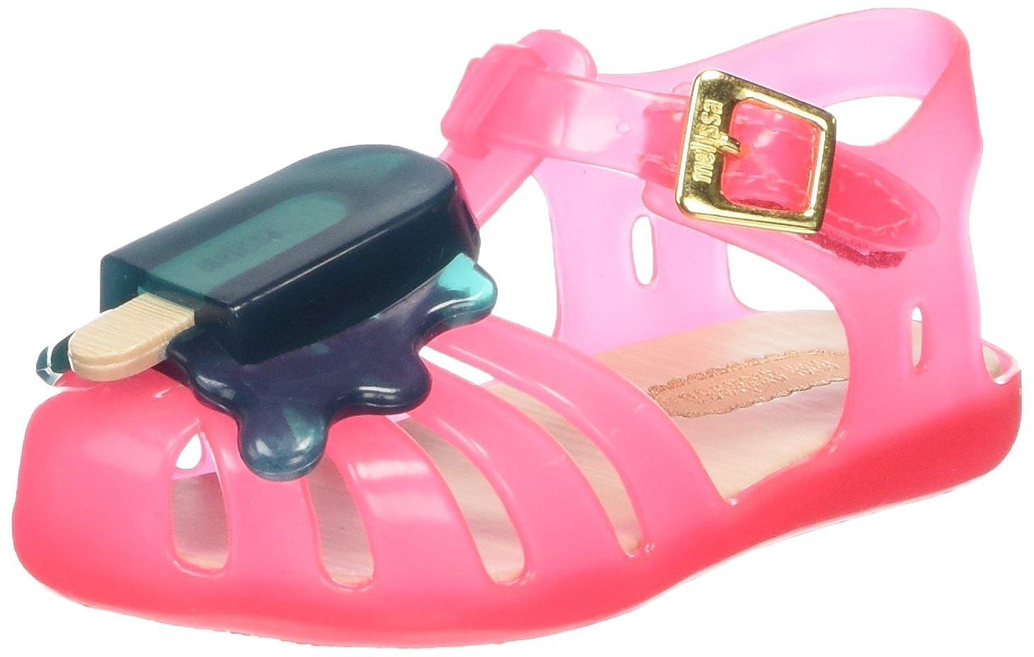 Melissa Mini Aranha VIII BBP, Sandales Premiers Pas Bébé Fille Chaussures Bébé Marche bébé Fille - Multicolore - Mehrfarbig (Ink/Green 52364) 19/20 31704